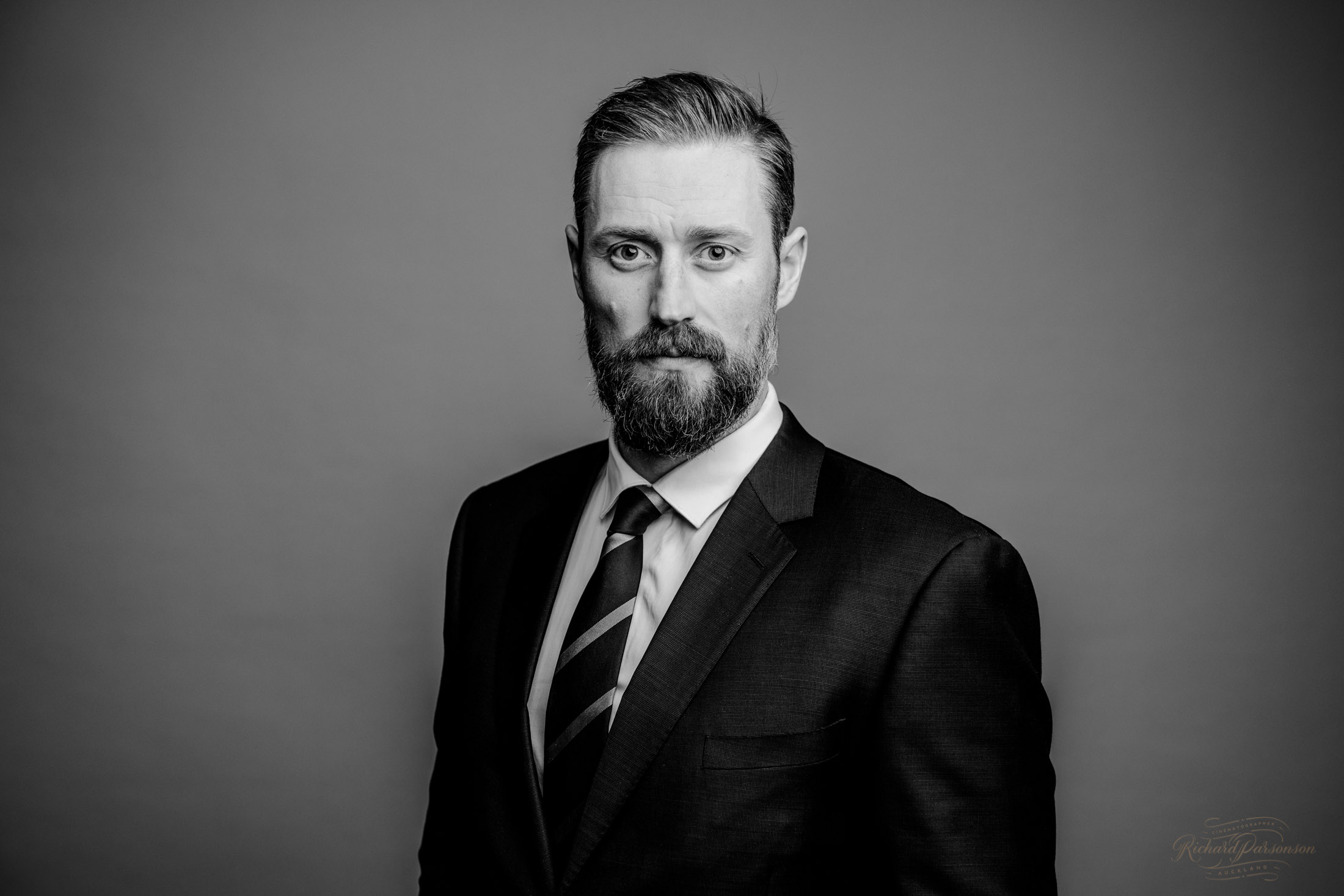 black and white portrait for business